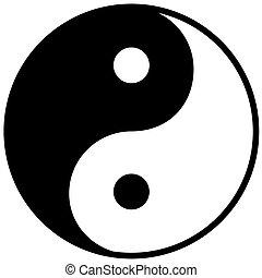 yang, 符號, 協調, ying, 平衡